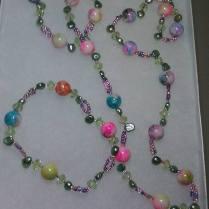 multicolor necklace and bracelet